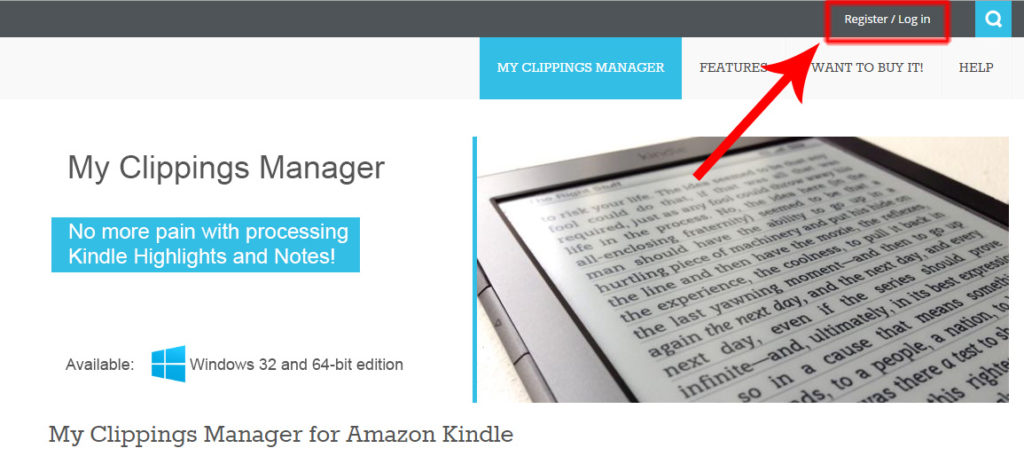 Kindle My Clippings Manager Login